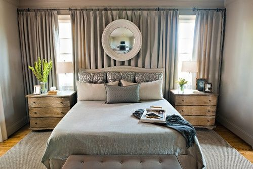 The Bougie Life: Apartment Therapy- Curtain Headboard in ...
