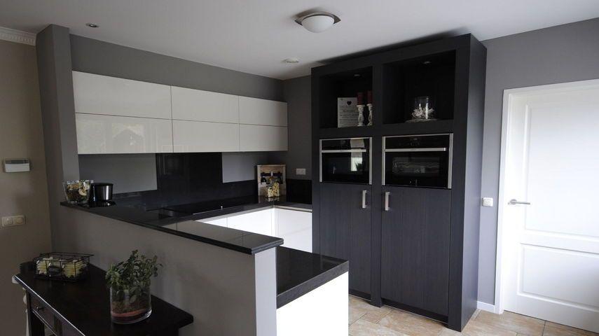 Keuken U Vorm Afmetingen: Landelijke gebruikte keuken in u vorm ...