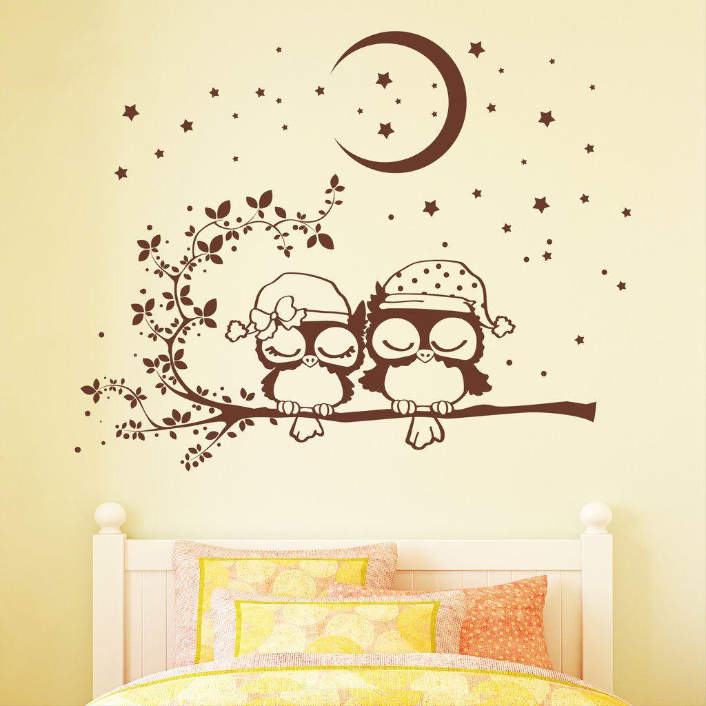 Wandbilder und Wandsticker Baby wandkunst Eulen