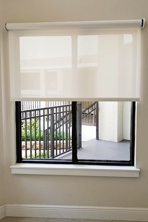 Custom Solar Shades Motorized Window Coverings Neutral Window