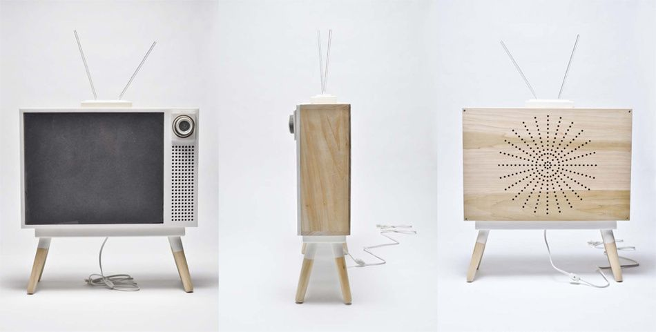 Modern & minimalistic design to revive TV's place in a room as a piece of furniture. By Mickey Chen, NYC