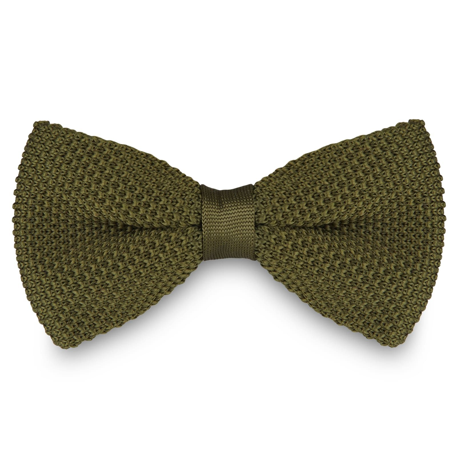 Photo of Ivy Green Knitted Bow Tie | In stock! | Tailor Toki