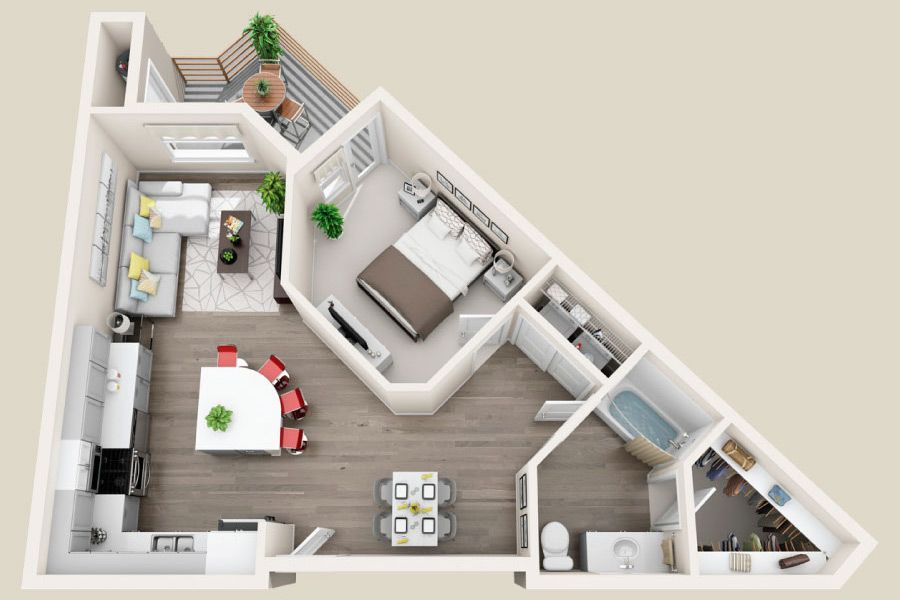 Floorplan 1d Ovation Property Aspire House Plans Small House Plans Sims House
