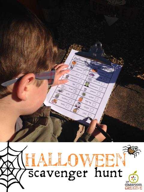 halloween scavenger hunt printable from