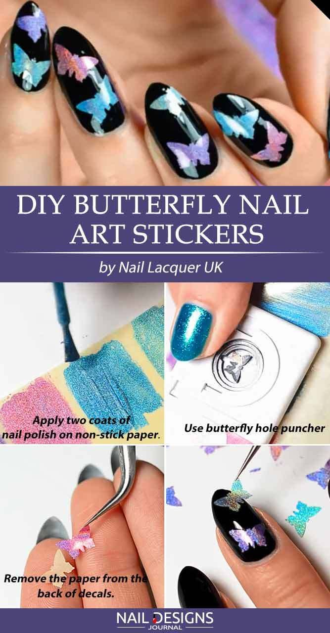 7 Beautiful Butterfly Nails Tutorials To Create A Masterpiece
