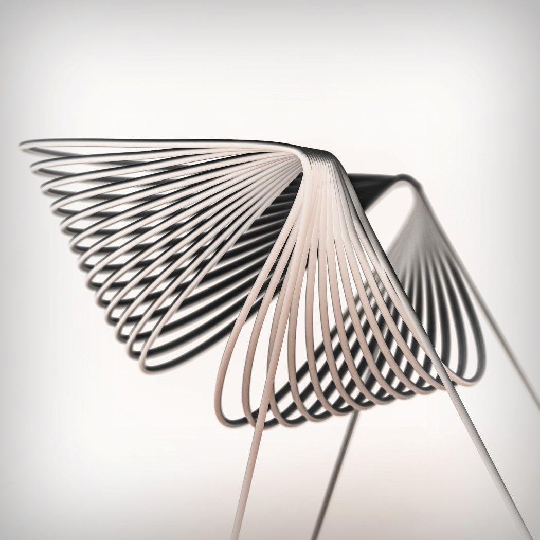 Yanko design furniture chair design fauteuil 3d unique design printing chair interior design