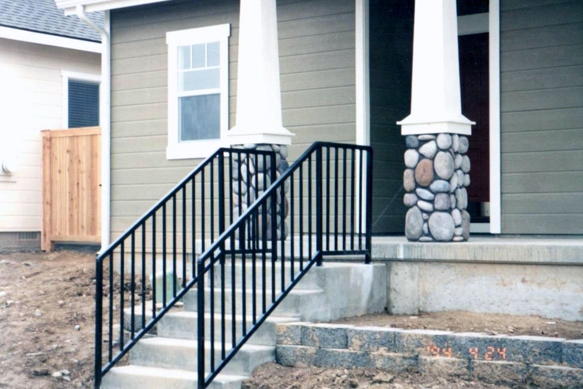 decorative deck railing panels wrought iron panel fence.htm outdoor stair railing fabricated and installed by frontier fence  outdoor stair railing fabricated and