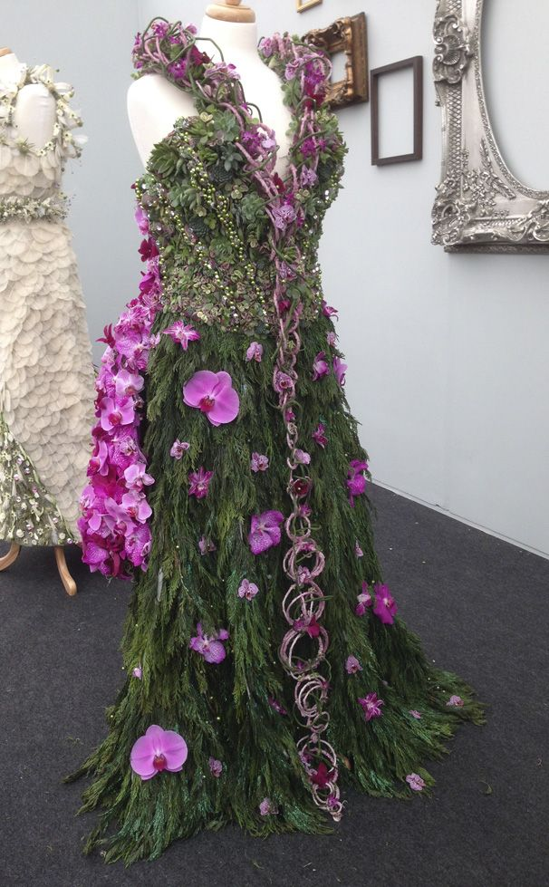 ... create a Fantasy Floral dress to be worn to a Crystal Ball. Below is a sampling of some of the amazing dresses created by florists and winners.