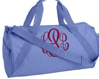 Monogram Dance Duffel Bag Gym Monogrammed Bags Barrel