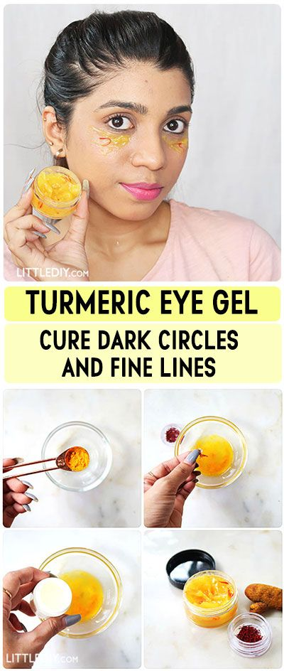 TURMERIC EYE GEL FOR DARK CIRCLES | Eye gel, Dark circles ...