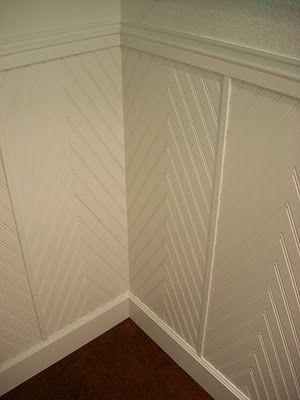 My Notting Hill Beadboard Sheets Become Chevron Paneling Diy Wainscoting Wainscoting Bathroom Wainscoting Styles