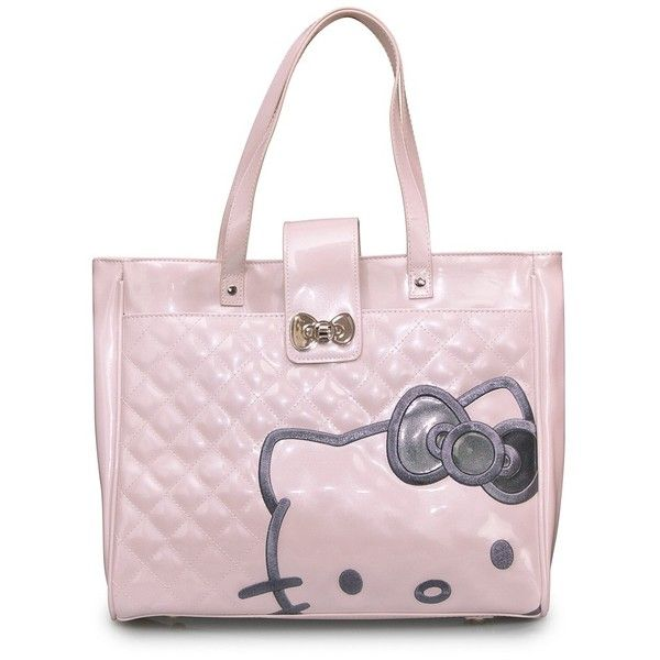 656854984 Buy Hello Kitty Pink Quilted Structured Tote Bag from loungefly.com SHINY  PATENT FAUX LEATHER BAG WITH EMBOSSED DETAIL. MEASUREMENTS: