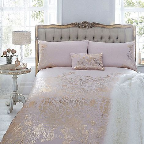 An Elegant Addition To Your Bedroom This Duvet Cover From Julien Macdonald Comes In Pale Pink With A Gorgeous Gold Bedroom Bed Linens Luxury Rose Gold Bedroom