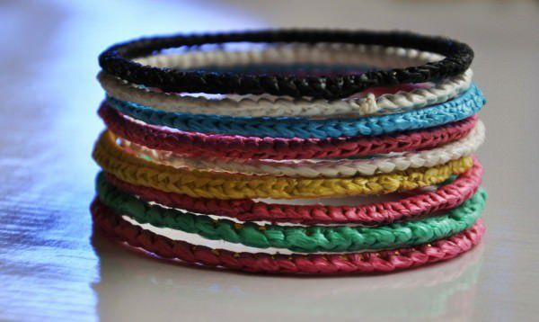 Recycled Plastic Bags Bracelets Recyclart Plastic Bag Crafts Recycled Plastic Bags Upcycle Plastic