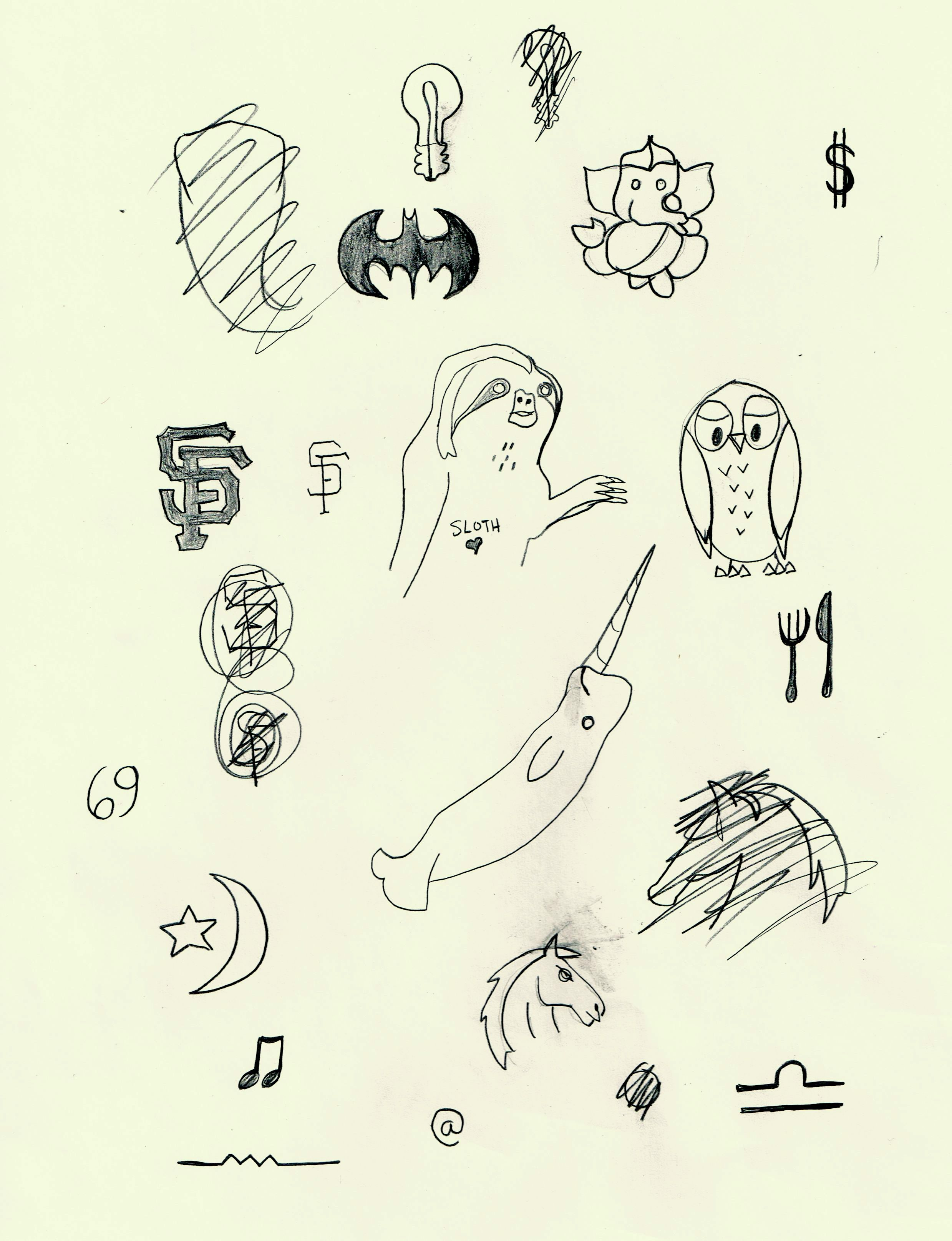 Here are some drawings to help you decide on a stick and for How to stick and poke tattoo