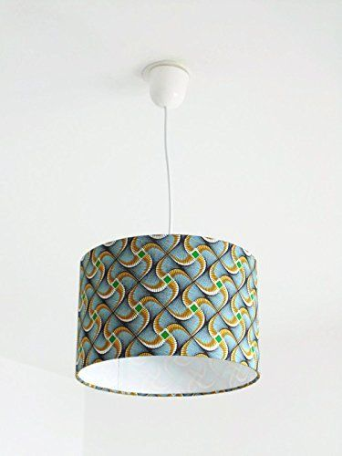 Lustre suspension plafonnier abat jour wax africain Lumin s