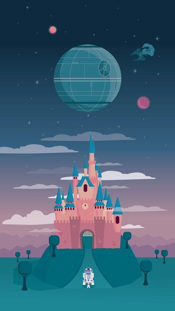 Star Wars heads to Disneyland in this wallpaper
