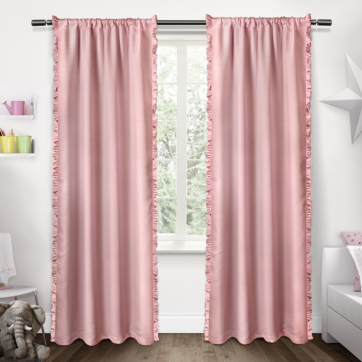 Ruffle Curtains Curtains Ruffle Curtains Panel Curtains