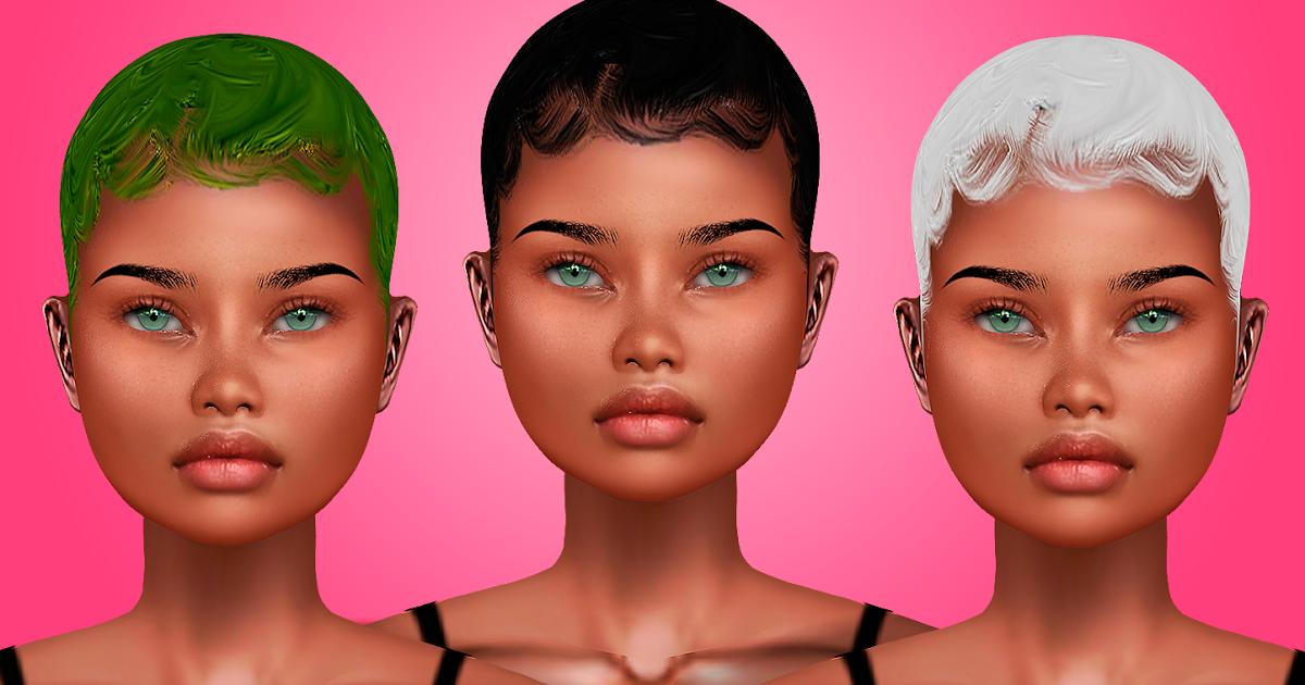 Baby Hair 01 by Black Queen Sims 4 black hair The sims 4 skin