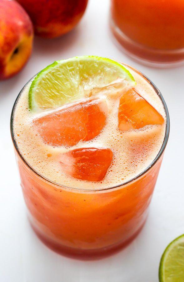 Fresh Peach Margaritas - Baker by Nature