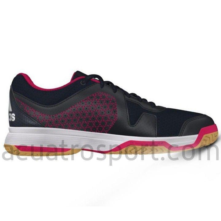 hot sale online 6b963 dabcc Zapatillas para balonmano Adidas Counterblast 3 en colores azul marino y  rosa para niños. Parte