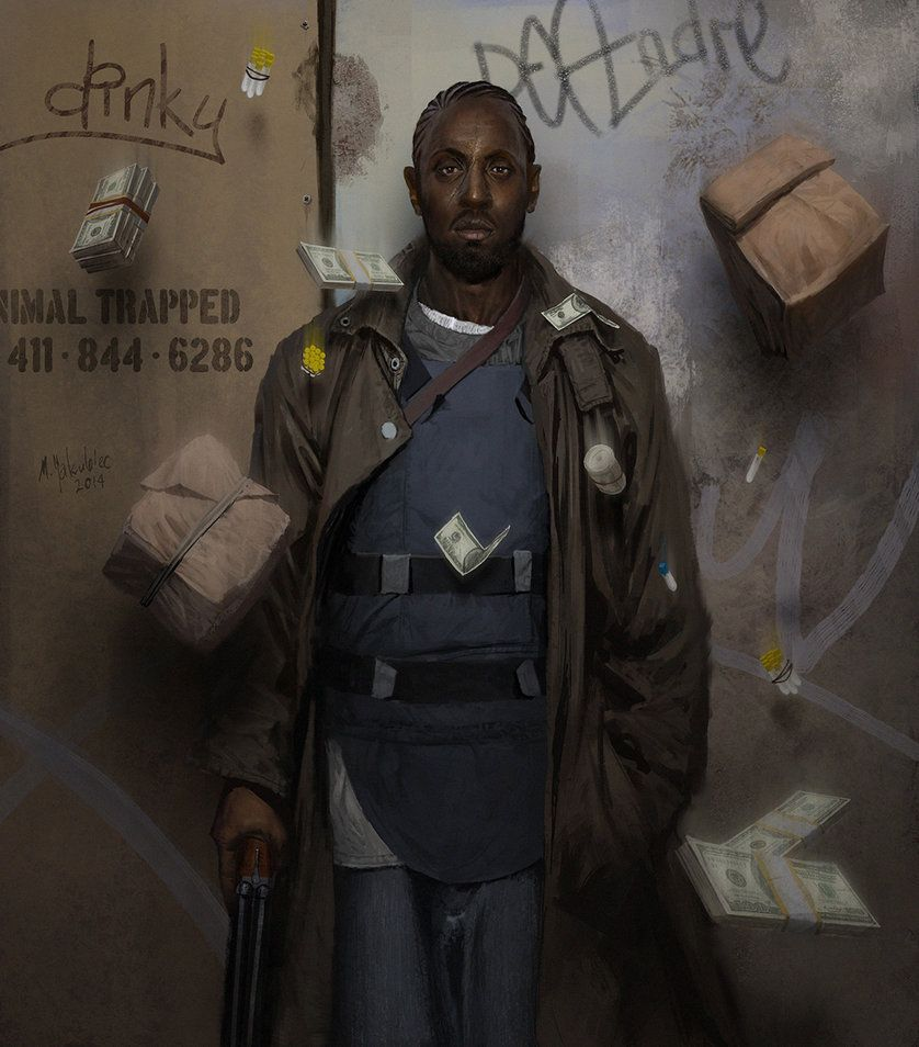 Omar Little, Milek Jakubiec on ArtStation at http://www.artstation ...
