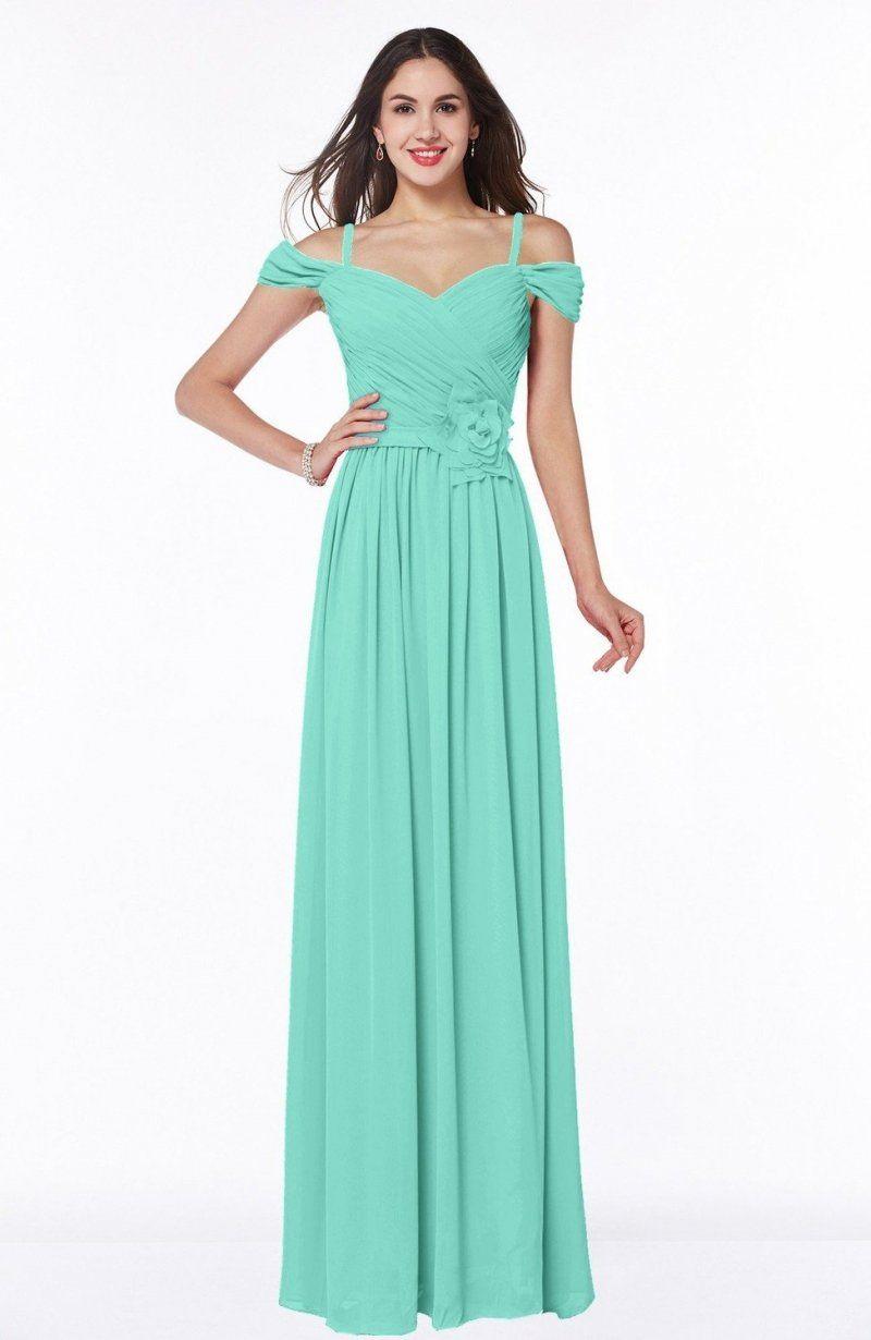 Seafoam Green Bridesmaid Dress - Gorgeous A-line Off-the-Shoulder ...