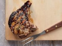 Double-Cut Pork Chops with Garlic Butter