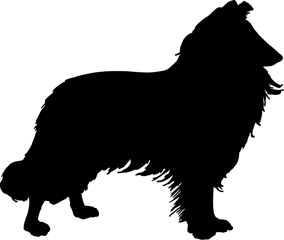 Collie Outline Clipart Clipart Dog Silhouette Collie Herding Dogs