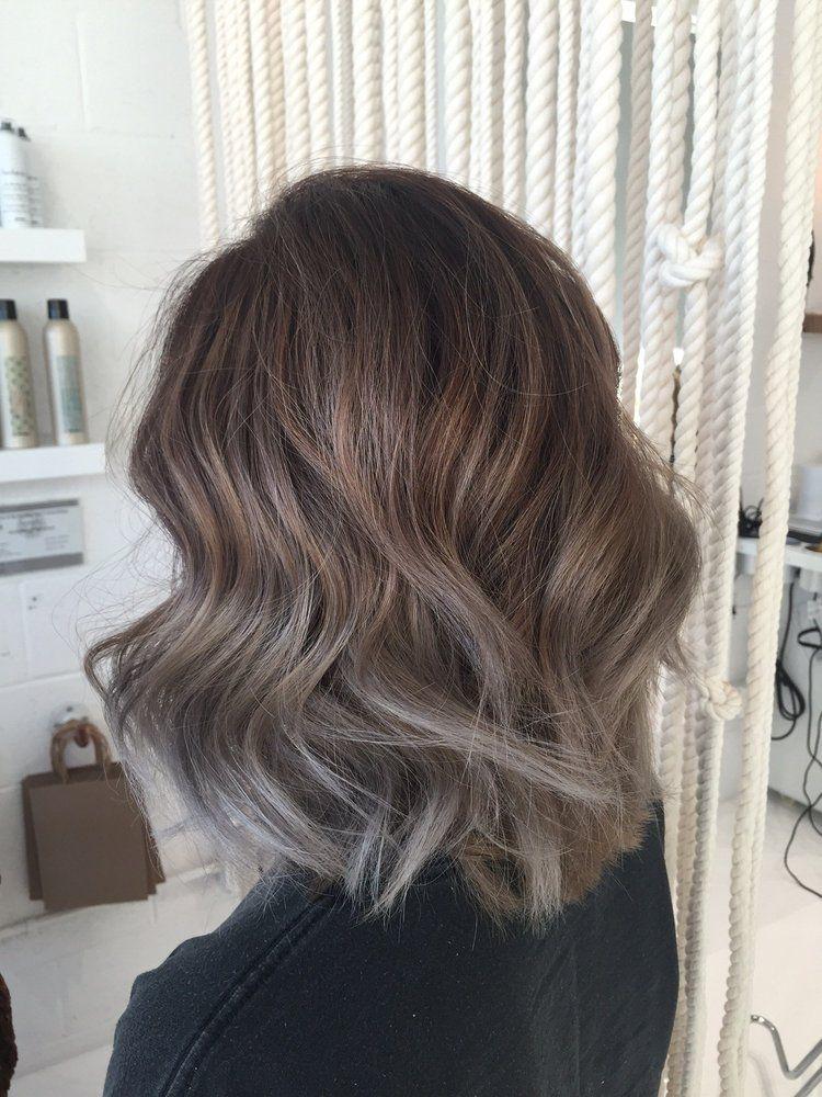 Bob Hair Balayage Ashy Ombre Hairstyles Ashy Hair