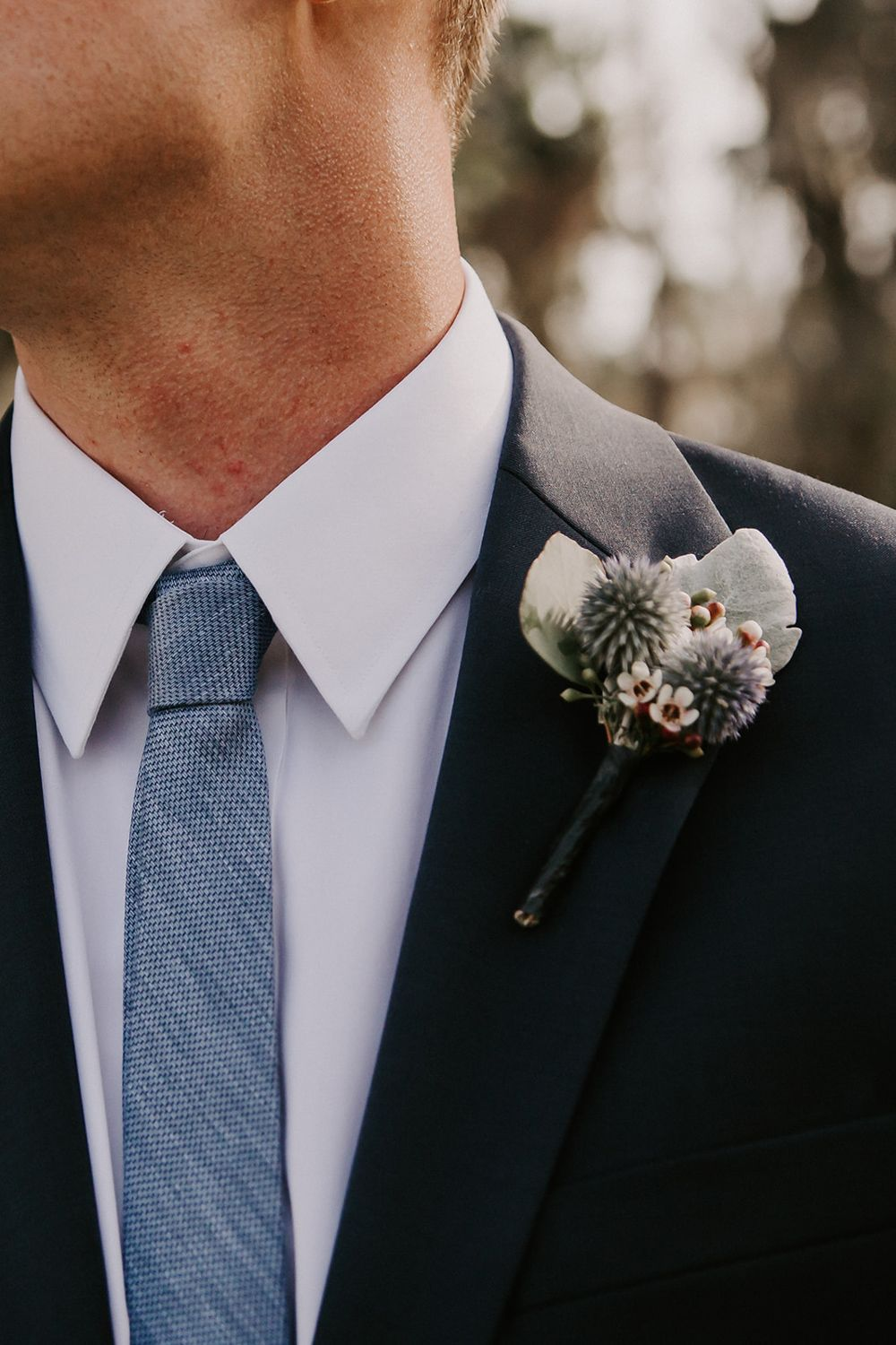 Slate Blue And Greenery Wedding At The Mulberry In 2020 Orlando Wedding Boutonniere Wedding Wedding