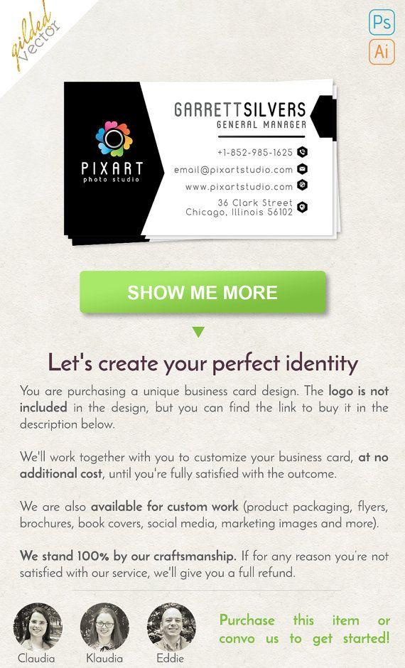 Photography Business Card, Salon Business Card, Digital Template ...