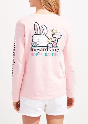 Vineyard Vines Women's Hoppy Easter Whale T-Shirt - Flamingo -