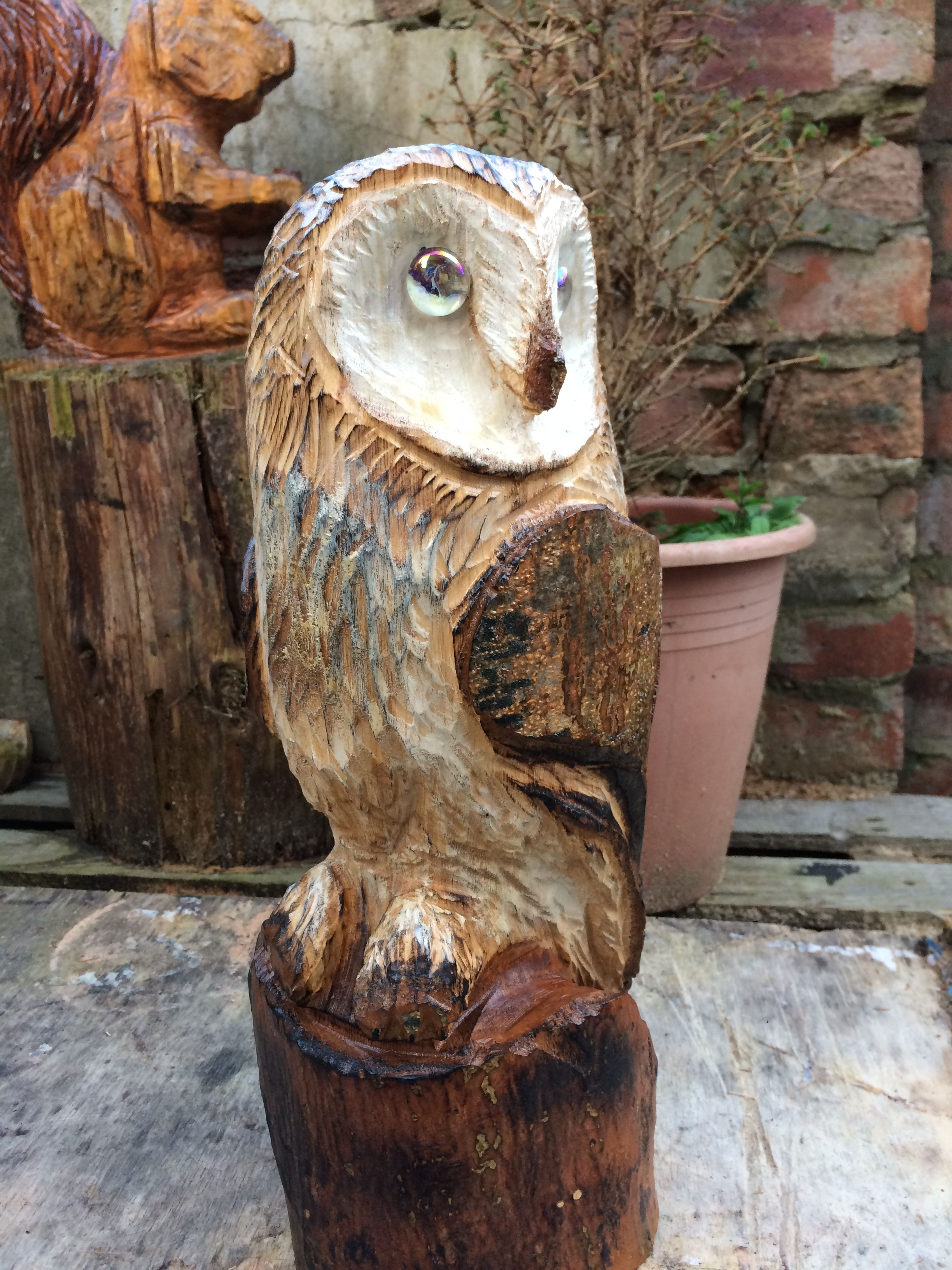 Pin by robert provencher on chainsaw carvings owl