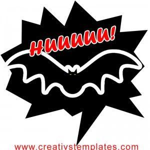 Plaquinha Divertida - Morcego