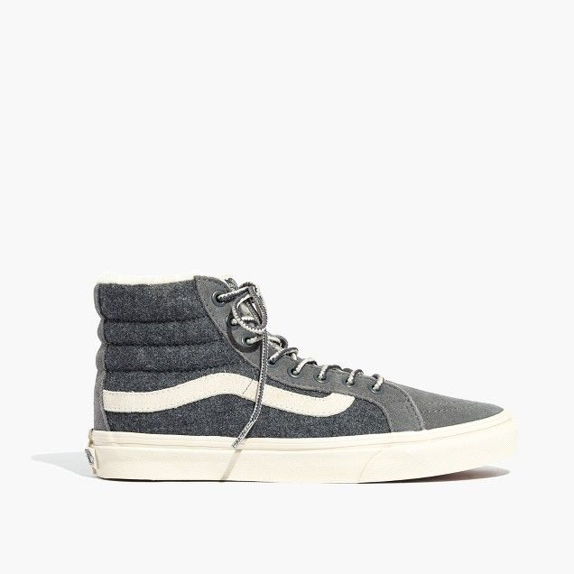 cb7ba8d19e01d9 Madewell x Vans Weatherized Classic Sk8-Hi High-Top Sneakers in Grey Flannel