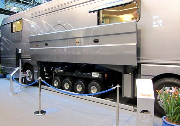 volkner mobile home | volkner mobil motorhome met moeras quad