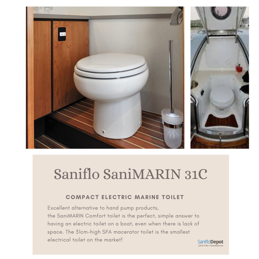 Excellent Alternative To Hand Pump Products The Sanimarin Comfort Toilet Is The Perfect Simple Answer To Having An Electric Electric Toilet Toilet Hand Pump