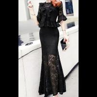فساتين سهرة دانتيل 2019 Lace Evening Dresses Evening Dresses Sari Design