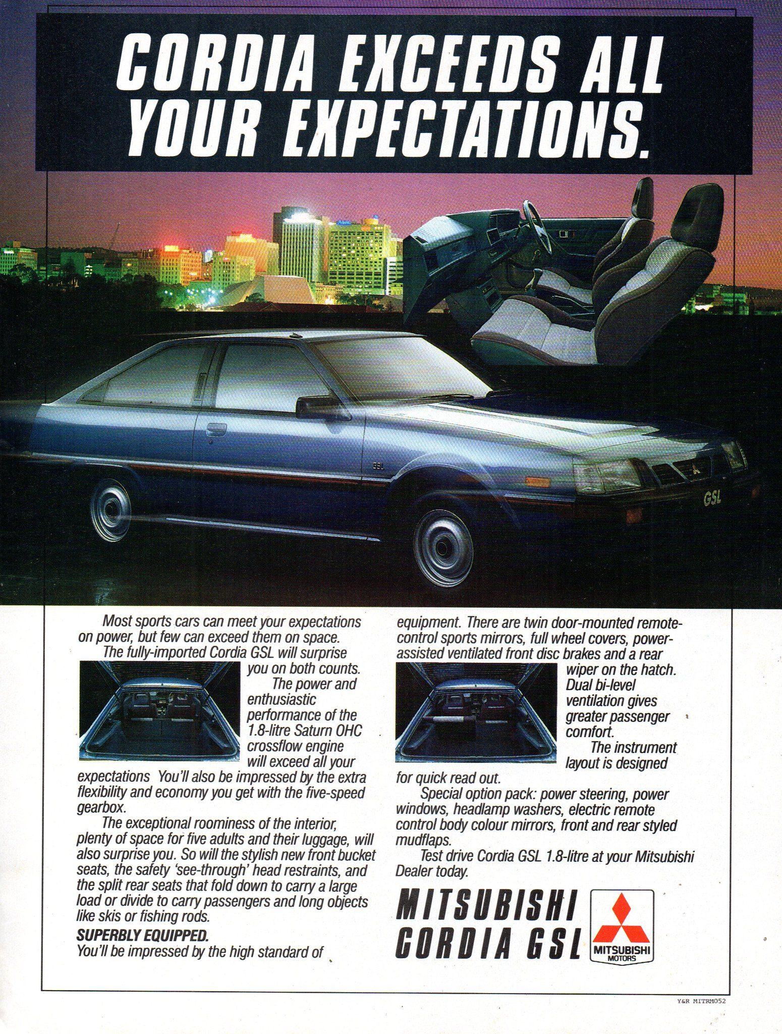 1985 Mitsubishi Cordia GSL 16 Litre Saturn OHC Hatchback