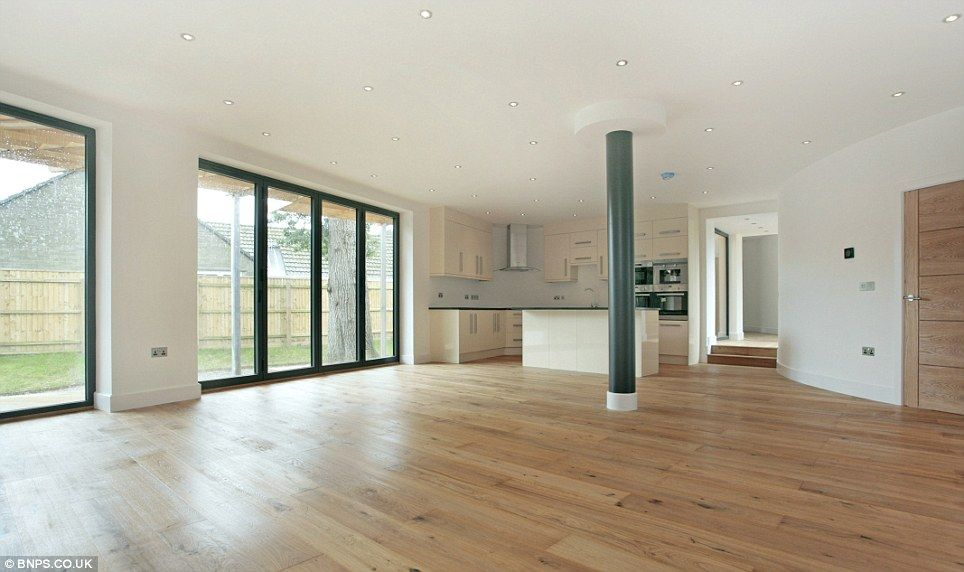 Open Plan Contemporary Kitchen Diner Extension | Sprawling Timber £700,000  Stilt Home Built Around Ancient Oak Trees .