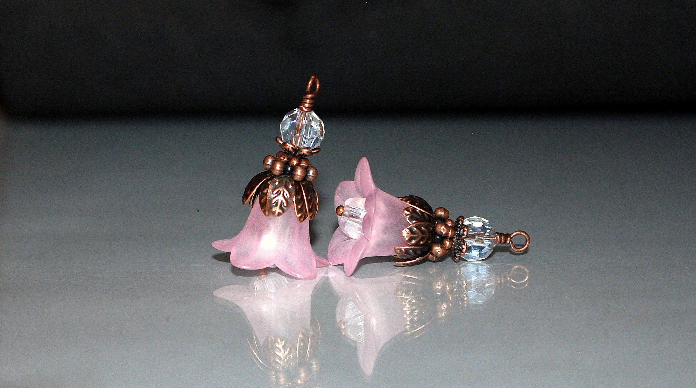 Gemstone Magenta Copper  bead fits charm bracelets small core