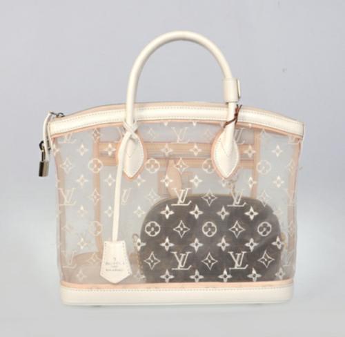 faceoil:Louis Vuitton transparent lockit bag $1595