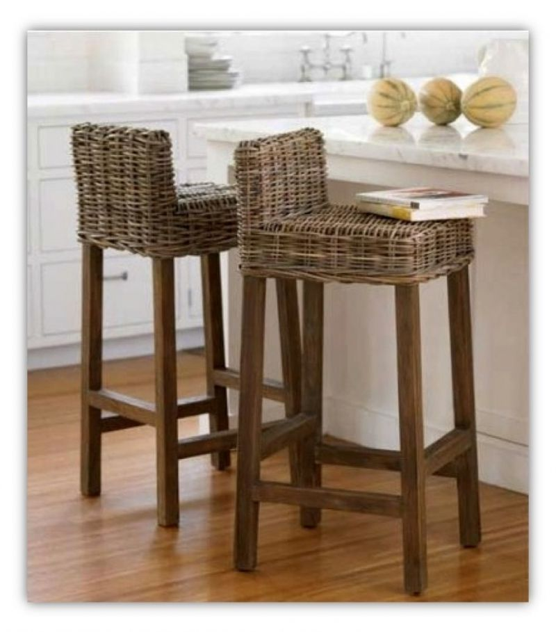 Awe Inspiring Small Contemporary Kitchen Counter Height Wicker Bar Stools Pdpeps Interior Chair Design Pdpepsorg