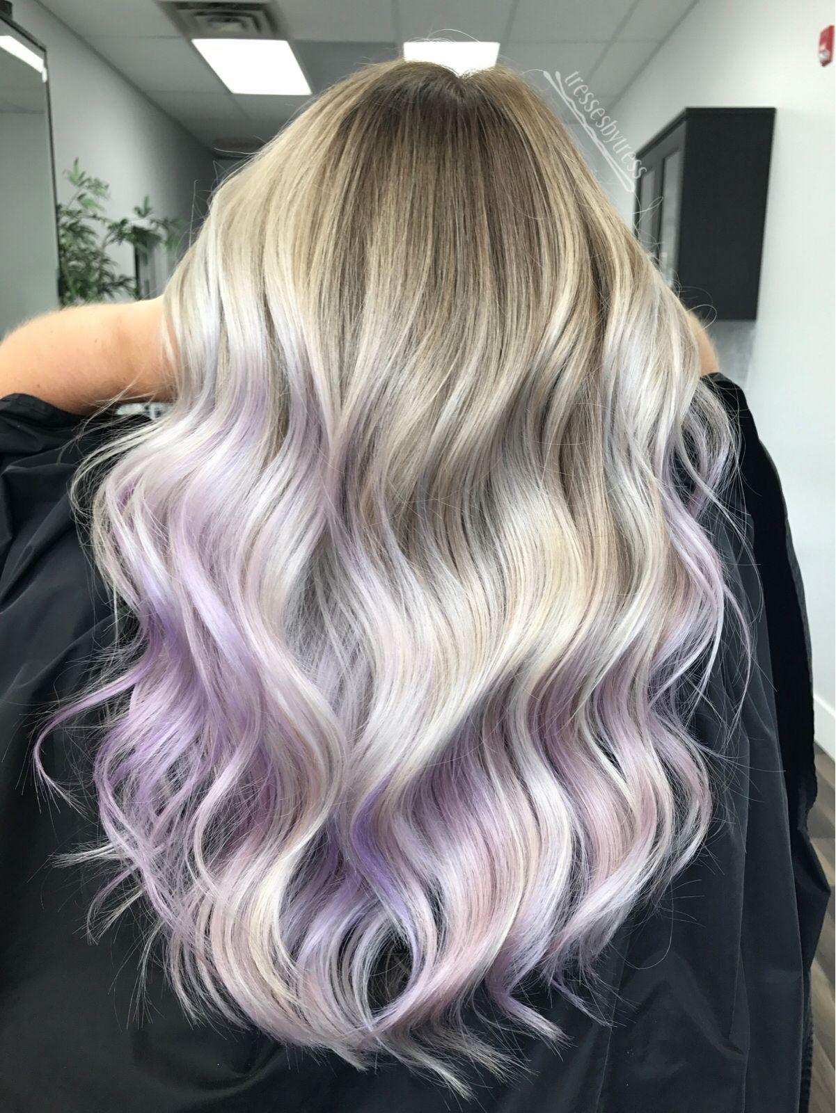 Lavendar Lilac Purple Ombre Balayage Purple Blonde Hair Purple Hair Highlights Light Purple Hair