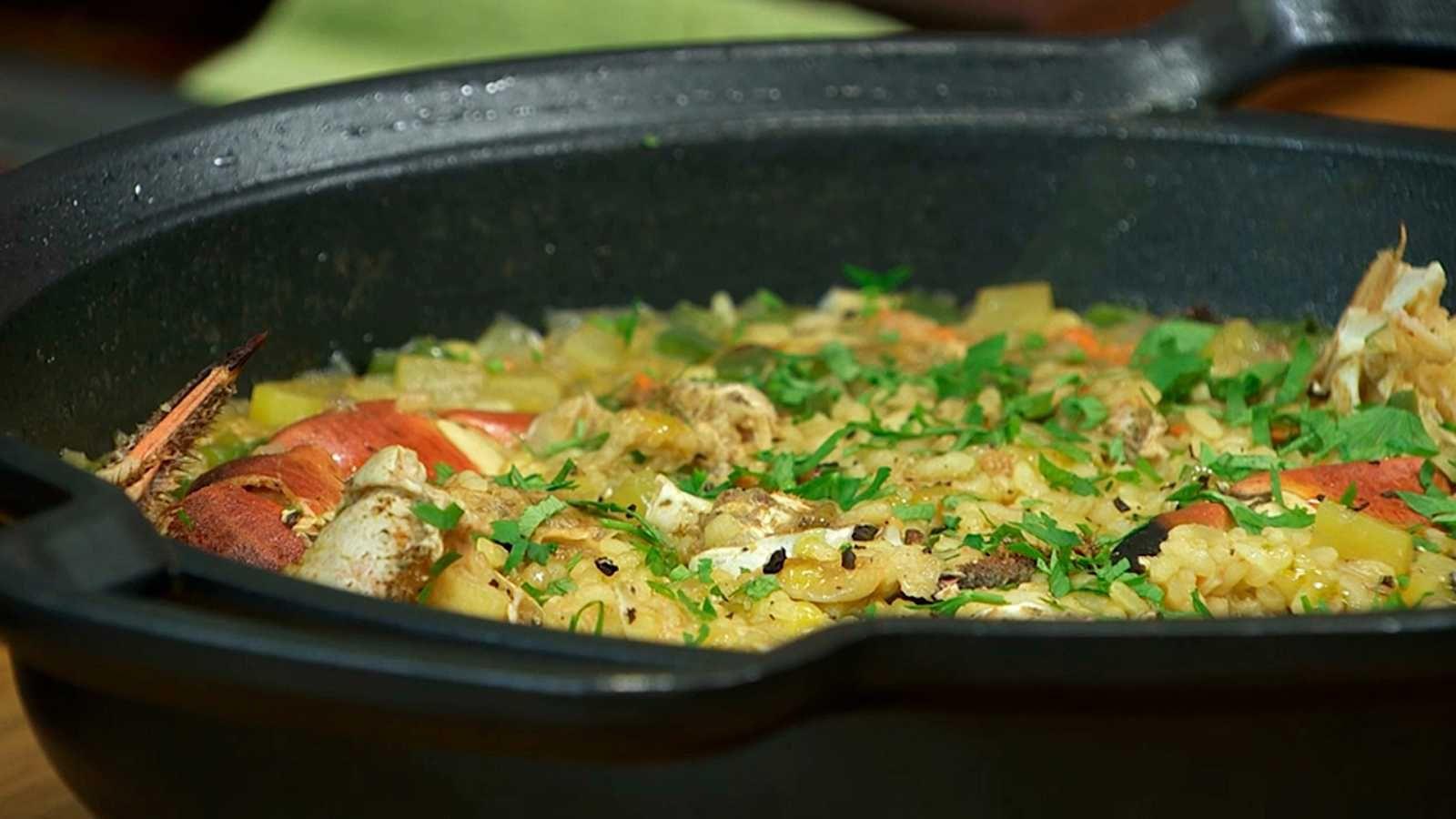 Arroz De Buey De Mar Torres En La Cocina Comida Recetas De Comida