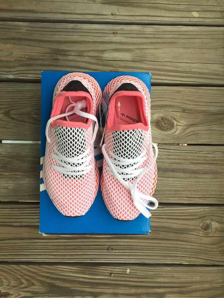 7b1d7573d6156 CHALK PINK BOLD ORANGE Size 7 Adidas Deerupt Runner Shoes  fashion   clothing  shoes  accessories  womensshoes  athleticshoes (ebay link)