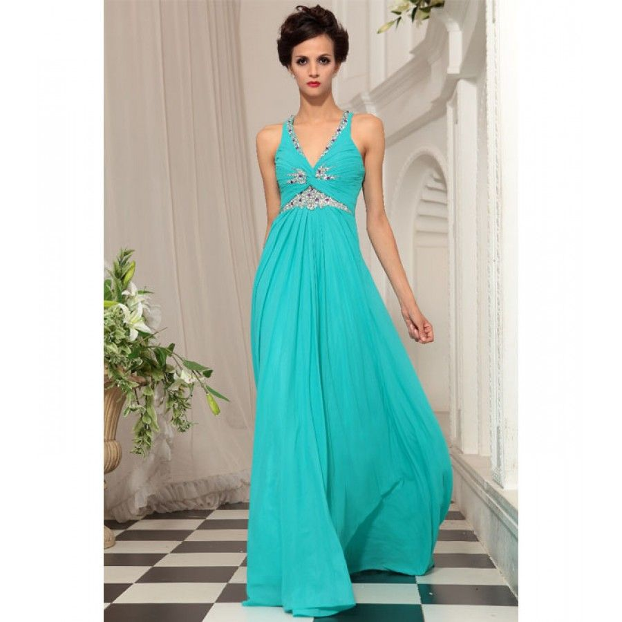 Delicate Turquoise dress luxury diamante silk | Wedding dress ideas ...