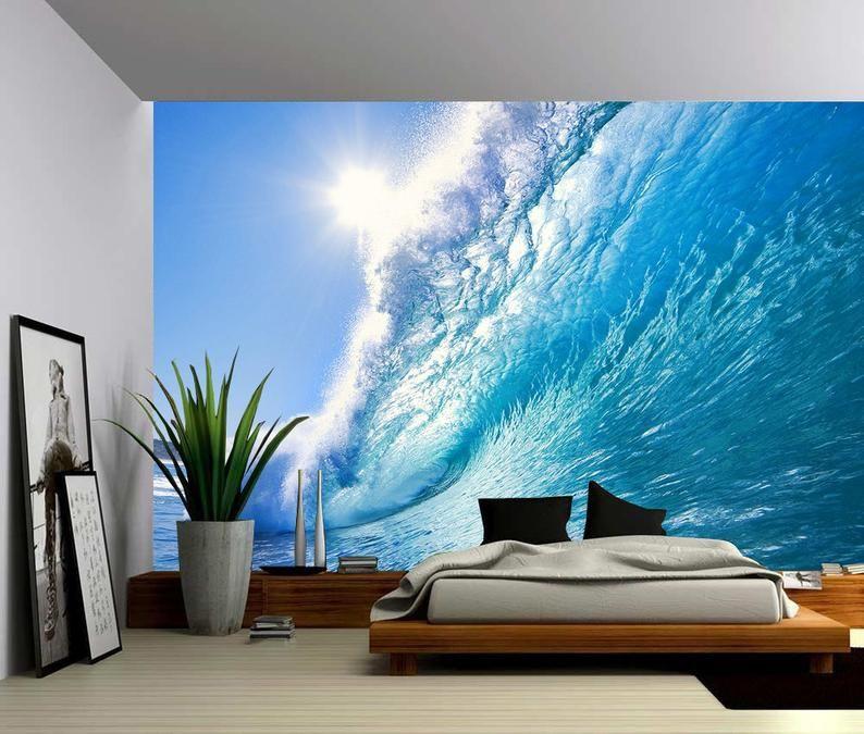 Ocean Wave Large Wall Mural, Selfadhesive Vinyl