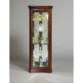 <strong>Pulaski</strong> Concave Corner Curio Cabinet